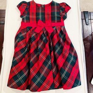 Darling red plaid Christmas dress in taffeta